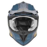 Kaciga NOX Cross 633 Viper Plavo - Zlatna