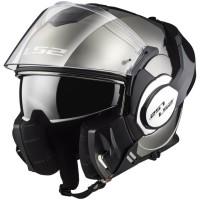 Flip-Up-Motorcycle-Helmet-LS2-FF399-Valiant-Chrome